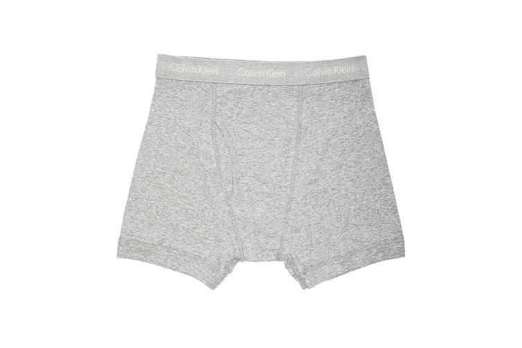 Calvin Klein Men's Cotton Classics Boxer Brief Underwear (Heather Grey, Size XL) - 3 Pack