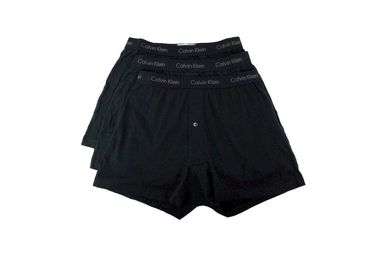 Calvin Klein Men's Cotton Classics Knit Boxer (Black, Size XL) - 3 Pack