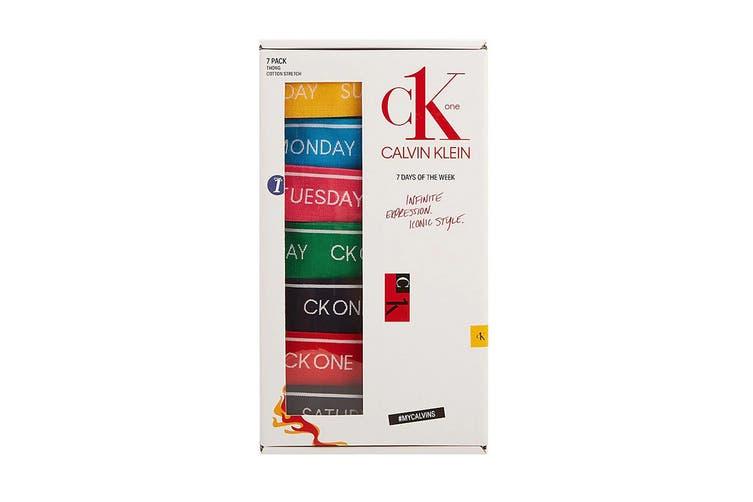Calvin Klein Women's Ck One Days Of The Week Thong Underwear (Multi, Size XL) - 7 Pack
