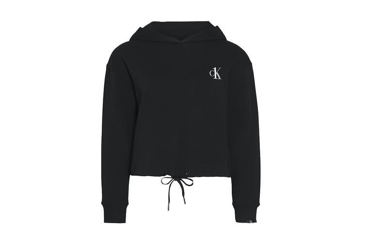 Calvin Klein Women's Loungewear Long Sleeve Hoodie (Black, Size M)
