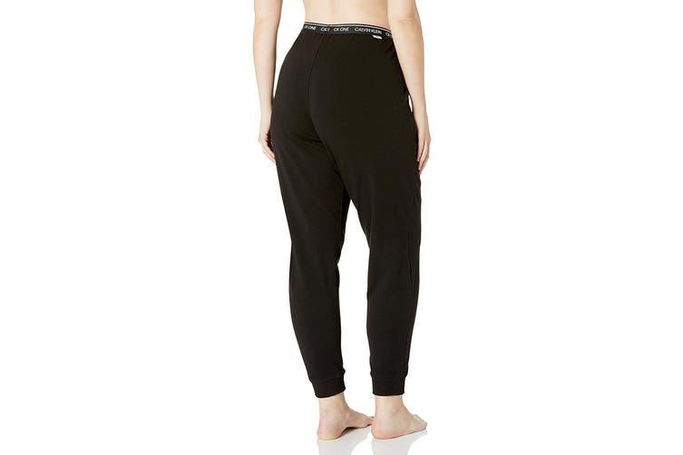Calvin Klein Women's Loungewear Plus Size Jogger (Black, Size 2XL)