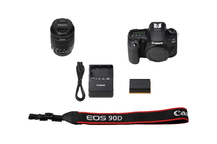 Canon EOS 90D Camera with 4K Video & EF-S 18-55mm Zoom Lens