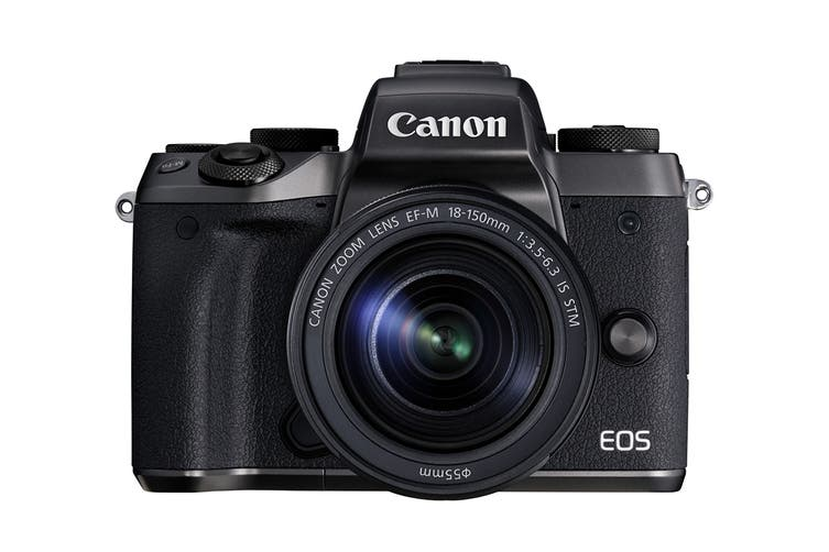Canon EOS M5 Mirrorless Camera with EF-M 15-45mm Lens and Mount Adapter