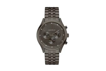 Caravelle Men's 41mm Analog Quartz Chronograph Watch with Fold-over Buckle - Black (45A141)