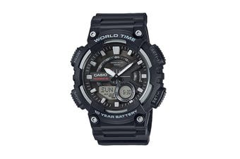 Casio Telememo Ana-Digital Watch - Black (AEQ110W-1A)