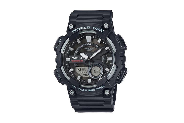Casio Telememo Ana-Digital Watch - Black (AEQ110W-1A)