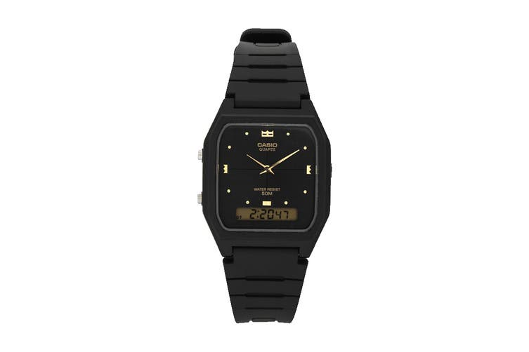 Casio Analog Digital Watch with Resin Band - Black (AW48HE-1A)