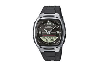 Casio Duo Ana-Digital Watch - Black (AW81-1)