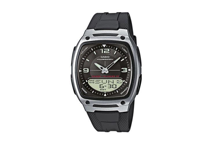 Casio Duo Ana-Digital Watch - Black (AW81-1)
