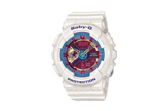 Casio Baby-G Analog Digital Female Watch with Resin Band - White (BA112-7A)