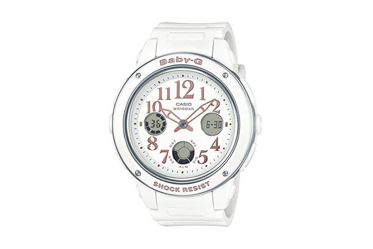 Casio Baby-G Analog Digital Watch with Resin Band - White/Pink (BGA150EF-7B)