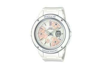 Casio Baby-G Analog Digital Female Watch with Resin Band - White (BGA150FL-7A)