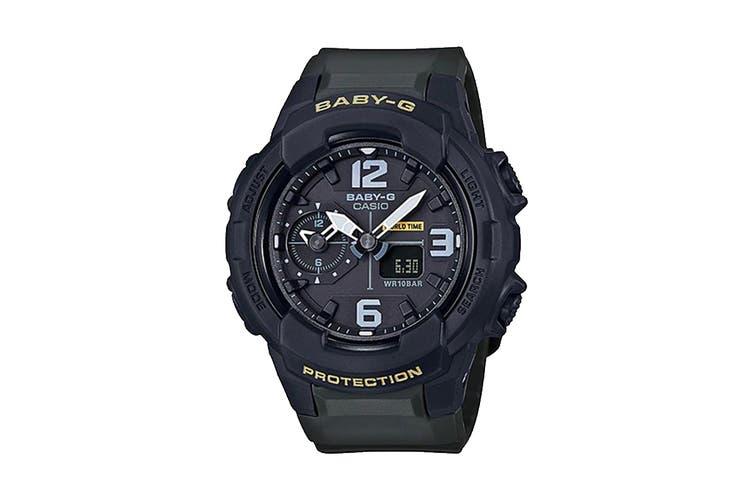Casio Baby-G Analog Digital Unisex Army Shop Watch with Resin Band - Khaki/Black (BGA230-3B)