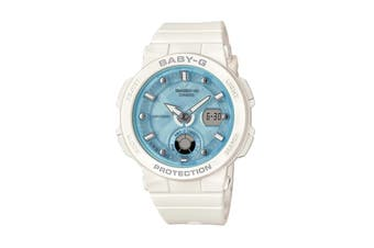 Casio Baby-G Duo Beach Traveller Ana-Digital Watch - White/Blue (BGA250-7A1)