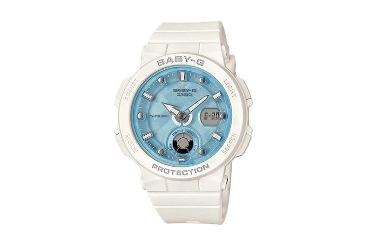 Casio Baby-G Duo Beach Traveller Ana-Digital Watch - White/Blue (BGA250-7A1)