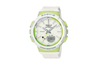 Casio Baby-G Analog Digital Female Watch with Resin Band - White/Lime (BGS100-7A2)