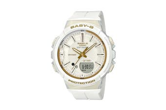 Casio Baby-G Analog Digital Female Watch with Resin Band - White/Gold (BGS100GS-7A)