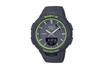 Casio Baby-G Duo Step Tracker Ana-Digital Watch - Black/Green (BSAB100SC-1A)