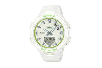 Casio Baby-G Duo Step Tracker Ana-Digital Watch - White/Green (BSAB100SC-7A)