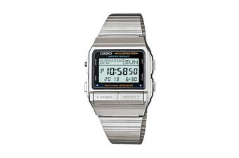 Casio Data Bank Stainless Steel Telememo Digital Stop Watch - Silver (DB380-1DF)