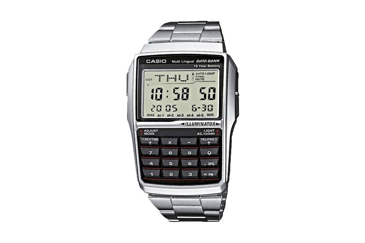 Casio Data Bank 25 Stainless Steel Digital Watch - Silver (DBC32D-1)