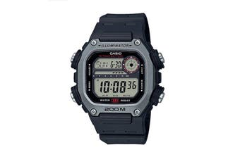 Casio Multi Alarm Digital Watch - Black/Silver (DW291H-1A)
