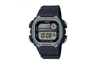 Casio Multi Alarm Digital Watch - Black/Silver (DW291H-1A)
