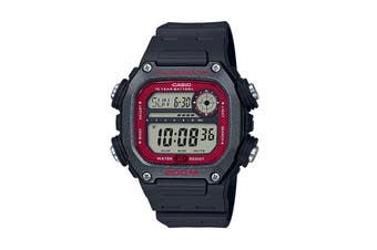 Casio Multi Alarm Digital Watch - Black/Red (DW291H-1B)
