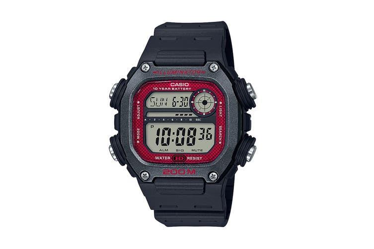 Casio Multi Alarm Digital Watch - Black/Red (DW291H-1B)