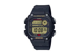 Casio Multi Alarm Digital Watch - Black/Yellow (DW291H-9A)
