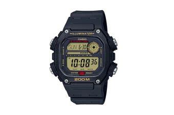 Casio Multi Alarm Digital Watch - Black/Yellow (DW291H-9A)
