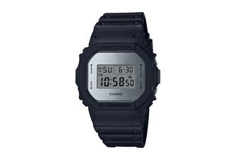 Casio G-Shock Digital Metallic Mirror Face Watch with Resin Band - Black/Silver (DW5600BBMA-1D)