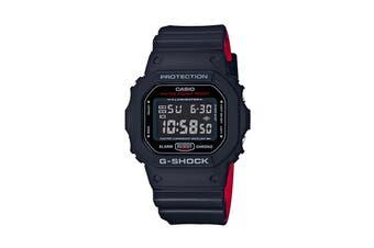 Casio G-Shock Digital Heritage Watch- Black/Red (DW5600HR-1A)