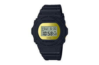 Casio G-Shock Digital Metallic Mirror Face Watch with Resin Band - Black/Gold (DW5700BBMB-1D)