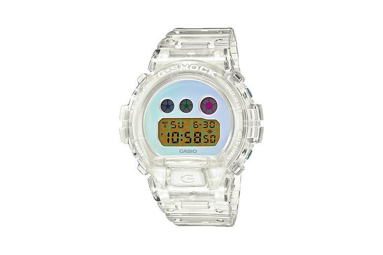 Casio G-SHOCK Digital Watch - Clear/Blue (DW6900SP-7D)