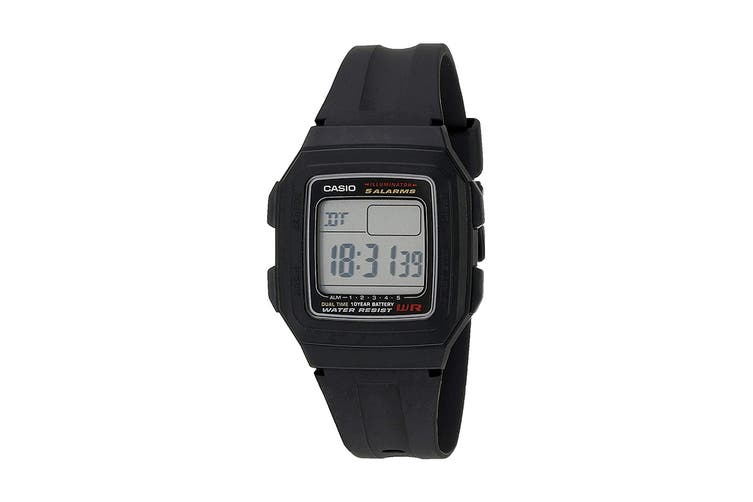 Casio Classic Digital Sports Watch with Resin Band - Black (F201WA-1A)