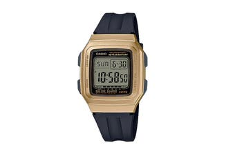 Casio Classic Digital Watch - Black/Gold (F201WAM-9A)