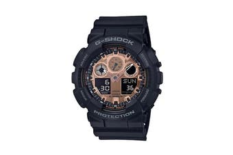 Casio G-Shock Analog Digital Watch with Resin Band - Black/Bronze (GA100MMC-1A)