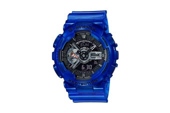 Casio G-Shock Analog Digital Duo Coral Reef Watch with Resin Band - Blue/Black (GA110CR-2A)