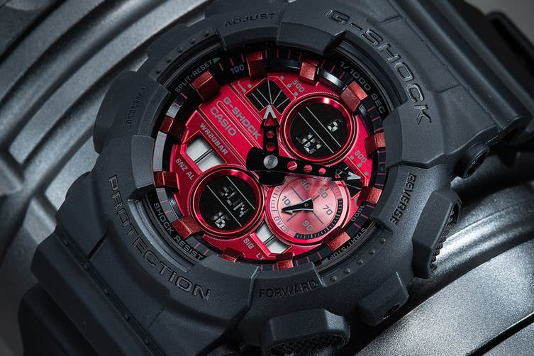 Casio G-SHOCK Ana-Digital Watch - Black/Red (GA140AR-1A)