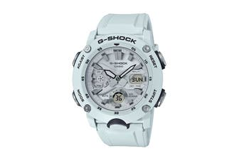 Casio G-Shock Analog Digital Watch with Multidimensional Face, Big Front Button & Resin Band - White (GA2000S-7A)