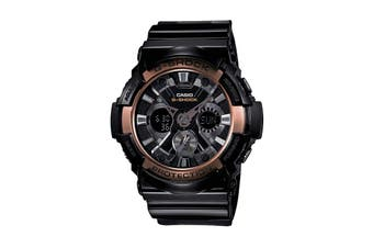 Casio G-Shock Analog Digital Watch with Resin Band - Black/Brass (GA200RG-1A)