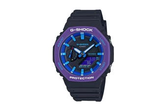 Casio G-Shock Duo 90'S Sport Ana-Digital Watch - Black/Blue (GA2100THS-1A)