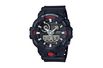 Casio G-Shock Analog Digital Watch with Resin Band - Black/Red (GA700-1A)