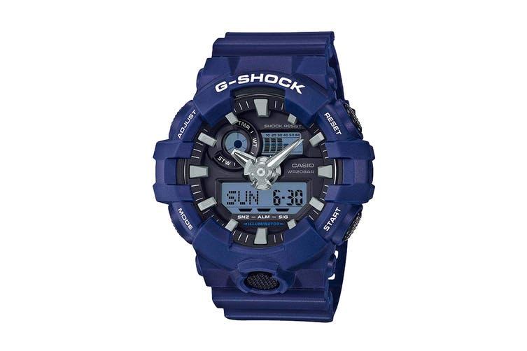 Casio G-Shock Analog Digital Watch with Resin Band - Blue/Black (GA700-2A)