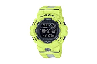 Casio G-Shock Bluetooth Step Count Digital Watch - Yellow/White (GBD800LU-9D)
