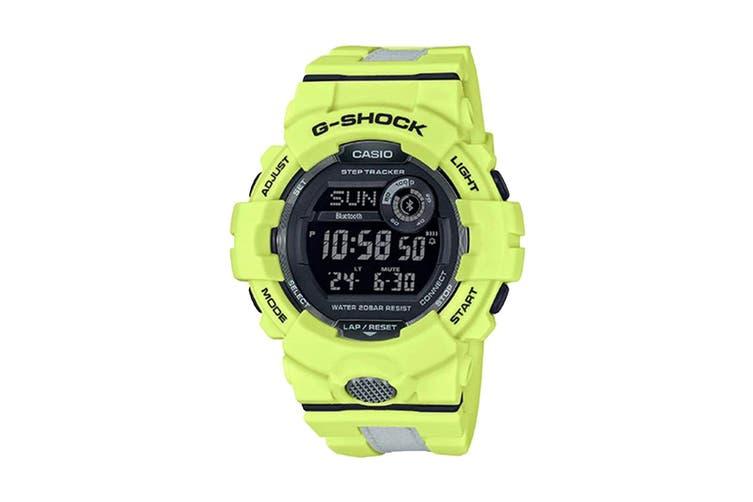 Casio G-Shock Bluetooth Step Count Digital Watch - Yellow/White (GBD800LU-9D)