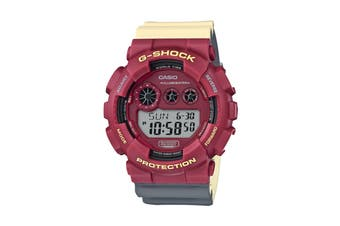 Casio G-Shock Digital Marok No Comply Watch with Resin Band - Red/Cream (GD120NC-4D)