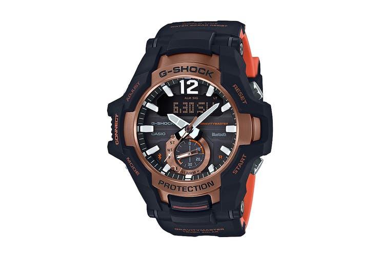 Casio G-Shock Analog Gravitymaster Solar Bluetooth Watch with Resin Band - Black/Bronze (GRB100-1A4)