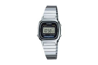 Casio Ladies Digital Stop Watch -Silver/Black (LA670WA-1UR)